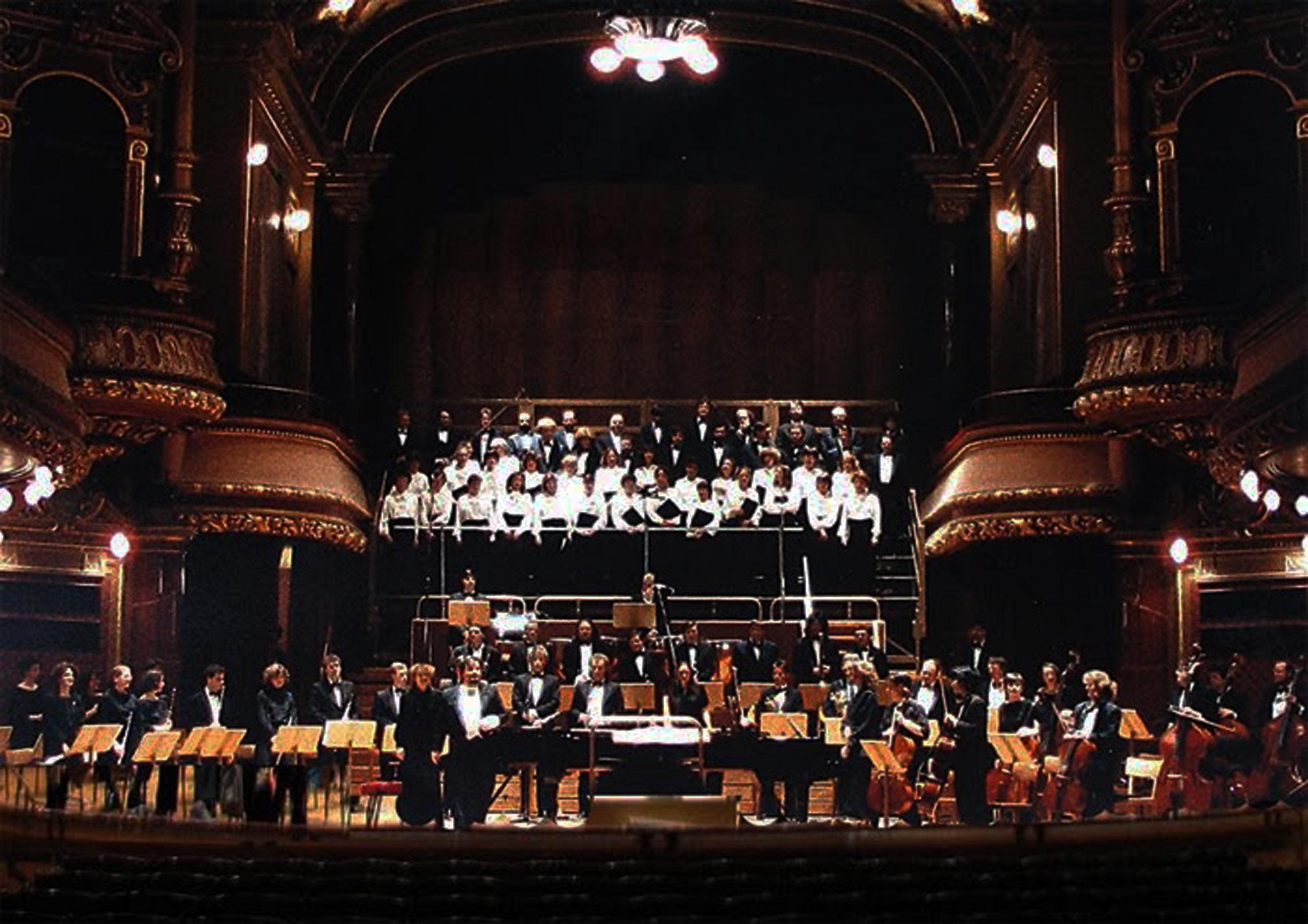 European Concerts à la crétion de l'orchestre à Genève en 1989
